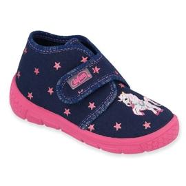 Befado gyermekcipő 538P015 haditengerészet rózsaszín