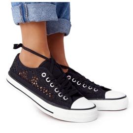 FB2 Női fekete csipke Candice tornacipő