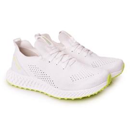 Férfi sportcipő Memory Foam Big Star FF174235 White-Lime fehér zöld