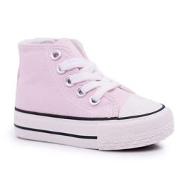 FRROCK Gyerek klasszikus magas rózsaszínű Filemon cipők
