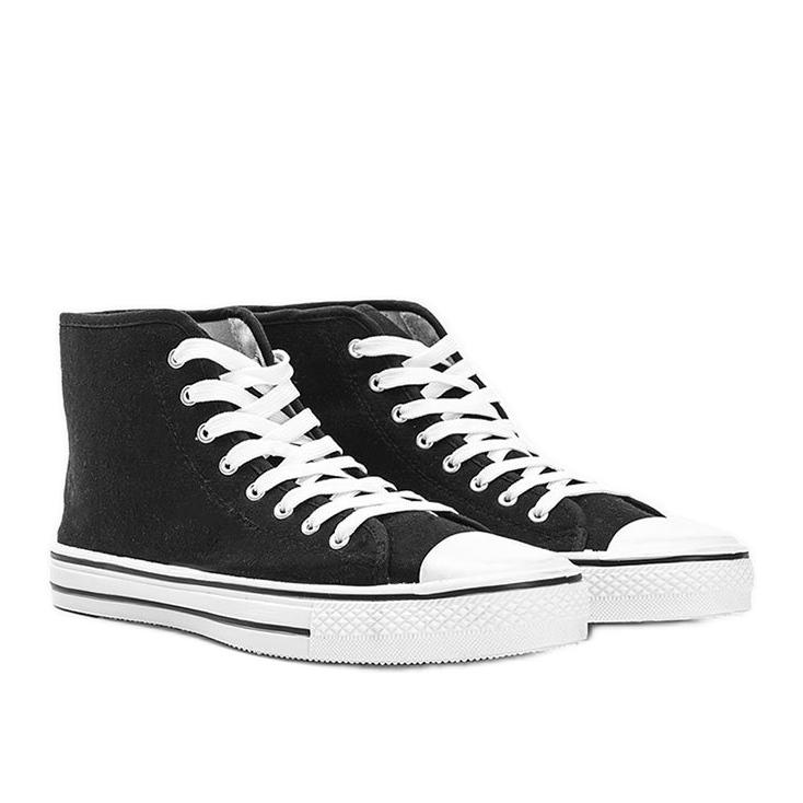 Férfi fekete cipők Gin boka
