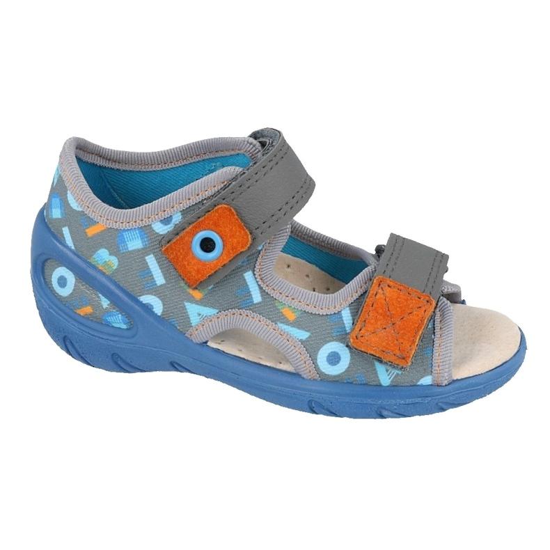 Befado gyermekcipő pu 065P160 kék szürke