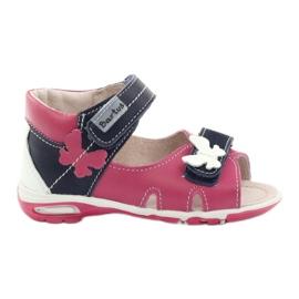 Lányos szandál - pillangó Bartuś rózsaszín