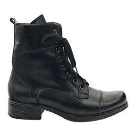 Csizma Angello 2060 cipzárral fekete