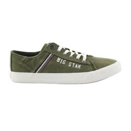 Big Star Nagy csillag cipők 174315 khaki cipők zöld