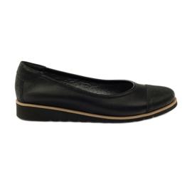 Fekete Angello 1325 bőr mokaszin cipő