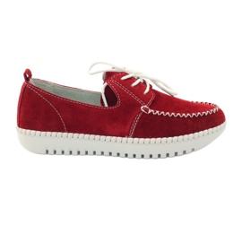 Creepersy bőr cipő Filippo 020 piros
