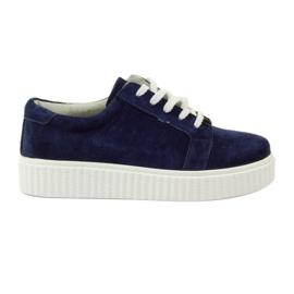 Creepersy bőr cipő Filippo 036 haditengerészet