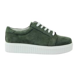 Creepersy bőr cipő Filippo 036 zöld