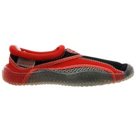 Aqua-Speed Jr. neoprén strandcipő vörös-szürke