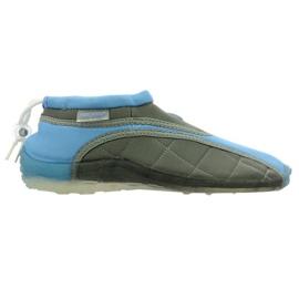 Aqua-Speed Jr. neoprén strandcipő kék-szürke