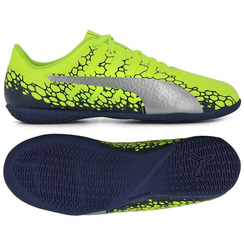 Futballcipő Puma Evo Power Vigor 4 Graph It Jr. 104467 02 sárga sokszínű