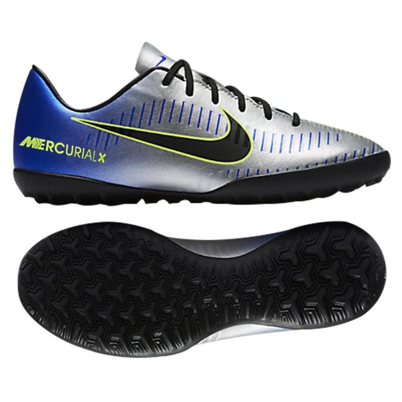 Nike MercurialX Victory Vi Neymar Tf Jr 921494-407 futballcipő kék kék, szürke / ezüst