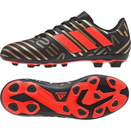 Adidas Nemeziz Messi 17.4 Fg Jr CP9210 futballcipő fekete, arany fekete