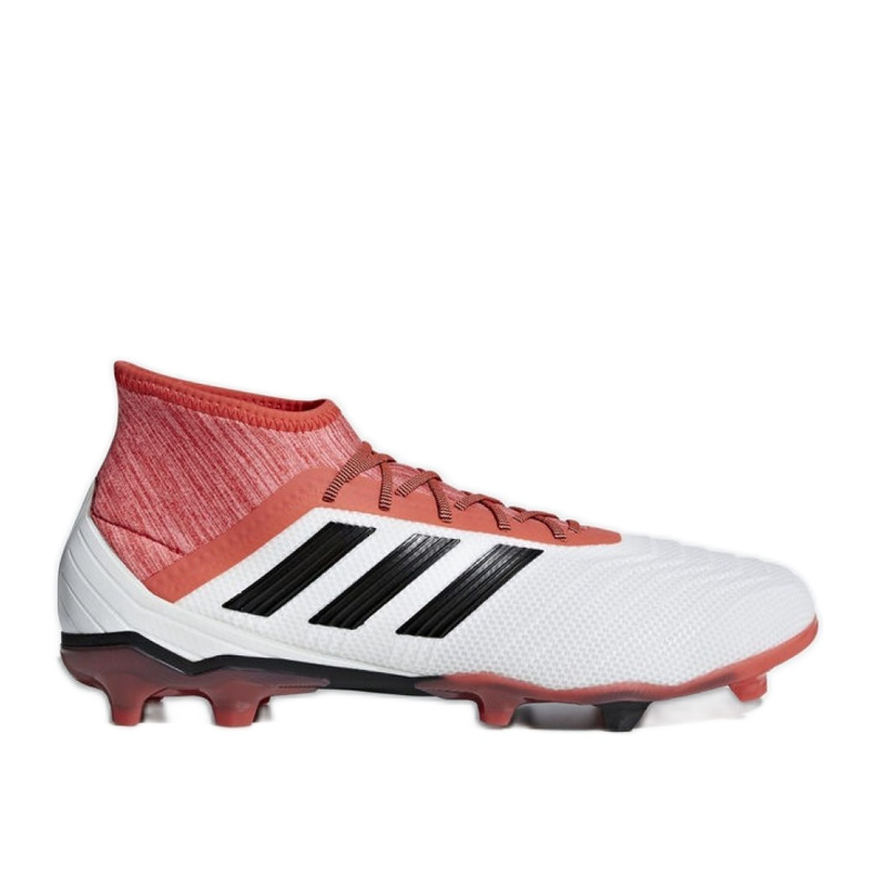 Adidas Predator 18.2 Fg M CM7666 futballcipő fehér fehér, piros