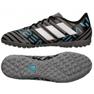 Adidas Nemeziz Messi Tango Tf M CP9071 futballcipő fekete fekete, kék, szürke / ezüst