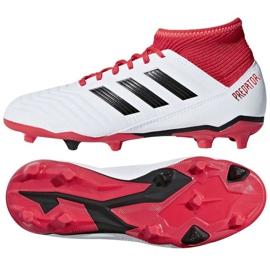 Adidas Predator 18.3 Fg Jr CP9011 futballcipő fehér fehér, piros