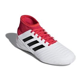 Adidas Predator Tango 18.3 Jr CP9073 beltéri cipő fehér, piros fehér
