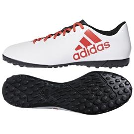 Adidas X Tango 17.4 Tf Jr CP9044 futballcipő fehér, piros fehér