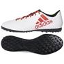 Adidas X Tango 17.4 Tf Jr CP9044 futballcipő fehér fehér, piros