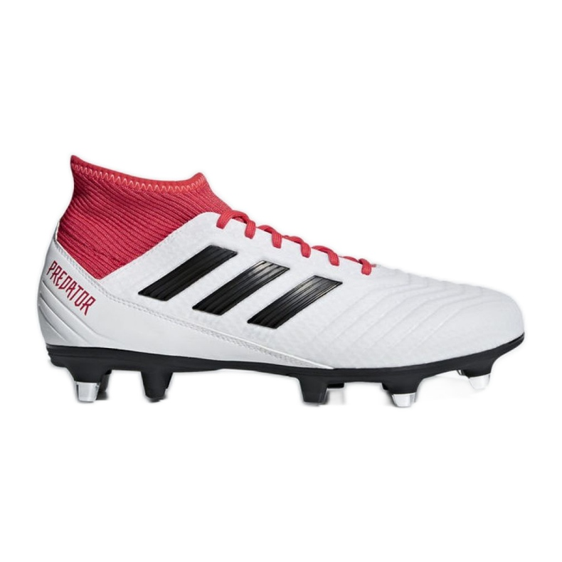 Adidas Predator 18.3 Sg CP9305 futballcipő fehér, piros fehér
