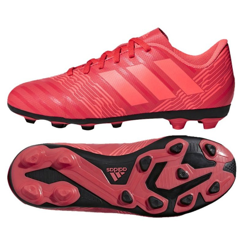 Adidas Nemeziz 17.4 FxG Jr CP9207 futballcipő piros piros