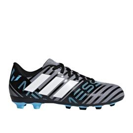 Adidas Nemeziz 17.4 FxG Junior CP9211 cipő szürke / ezüst, többszínű sokszínű