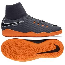 Nike Hyphantomx 3 Academy Df Ic Jr AH7291-081-S futballcipő szürke szürke