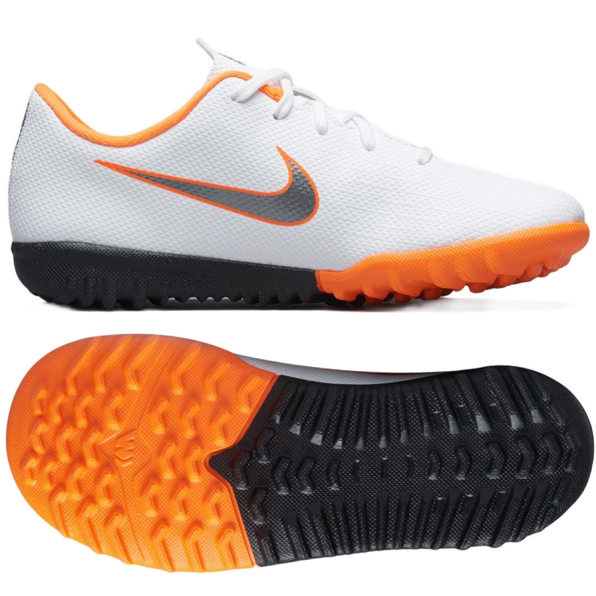 Nike Mercurial VaporX 12 Academy Tf Jr AH7353 107 futballcipő fehér fehér
