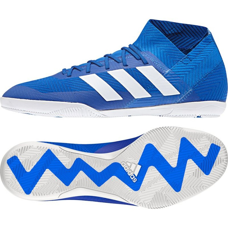 Adidas Nemeziz Tango 18.3 IN M DB2196 futballcipő kék