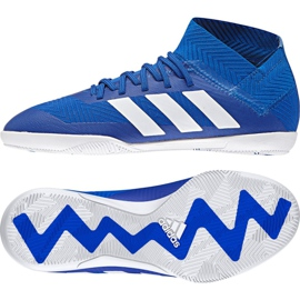 Adidas Nemeziz Tango 18.3 IN Jr DB2374 futballcipő kék kék
