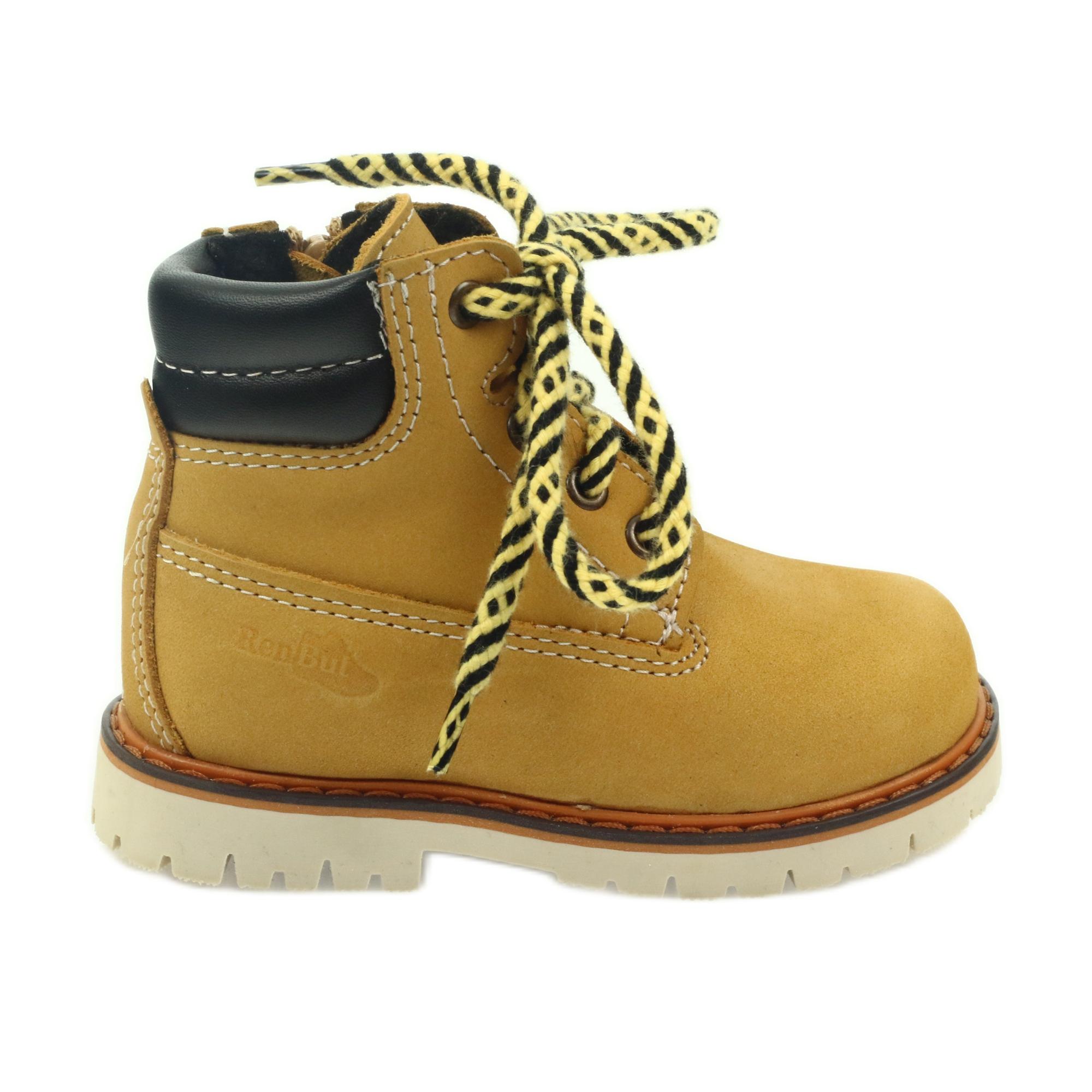 Ren cipzárral rendelkező cipő Ren But 4228 barna ButyModne.pl