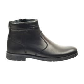 Riko csizma férfi cipő, cipzáras 825 fekete