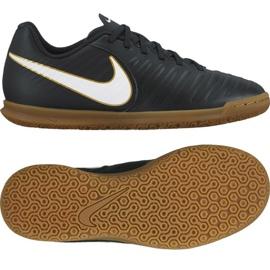Nike Tiempo X Rio Iv Ic Jr 897735 002 beltéri cipő fekete fekete