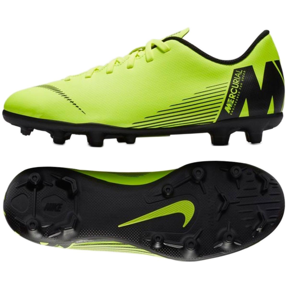 Nike Mercurial Vapor 12 Club Mg Jr AH7350 701 futballcipő zöld zöld