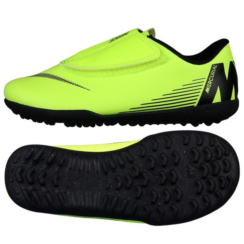 Nike Mercurial Vapor 12 Club Tf Jr AH7357-701 futballcipő zöld zöld