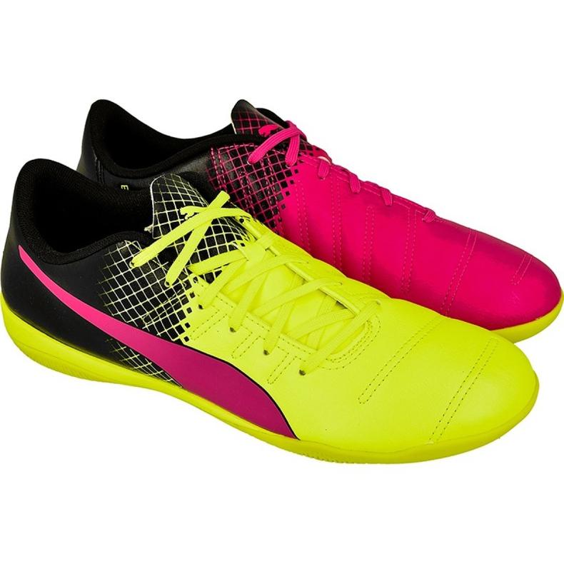 Puma evoPOWER 4.3 trükkös beltéri cipőt fekete fekete, sárga, rózsaszín