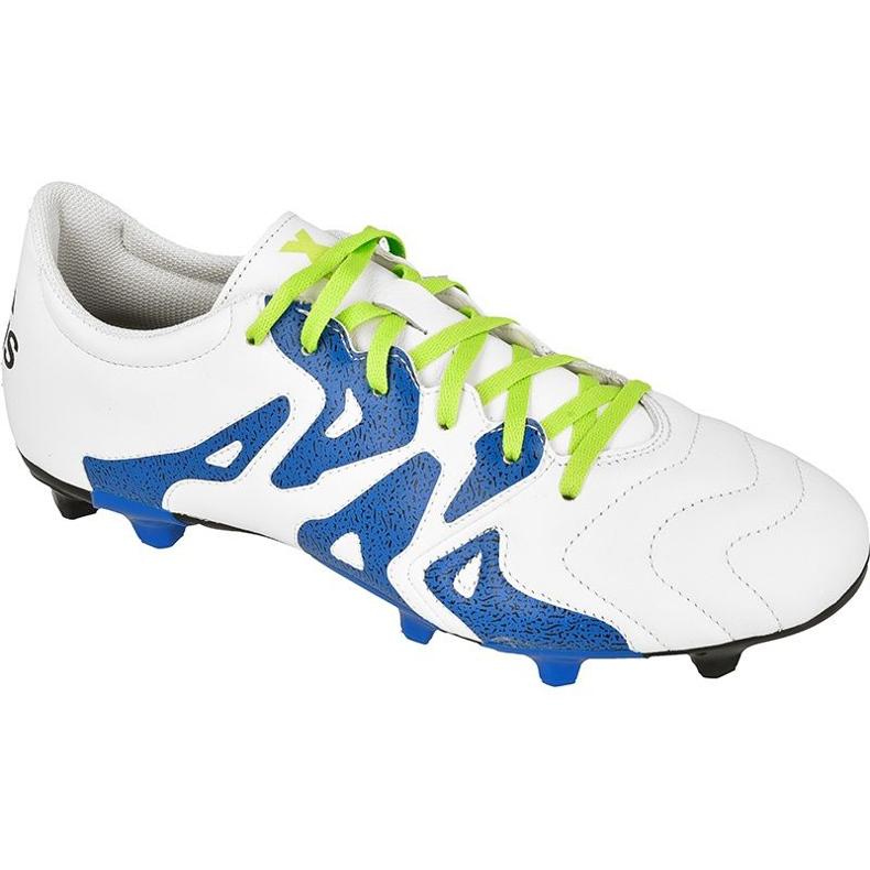 Adidas X 15.3 FG / AG M bőr S74641 futballcipő fehér