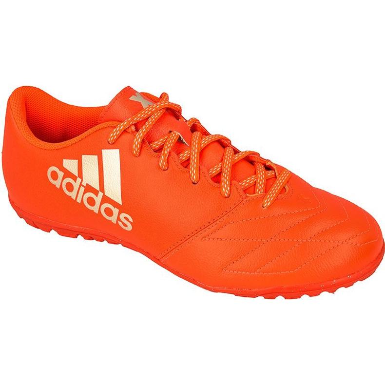 Adidas X 16.3 Tf M Bőr foci cipő piros