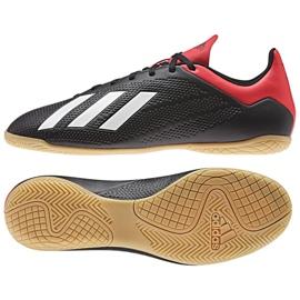 Adidas X 18.4 M BB9405 beltéri cipőben fekete fekete