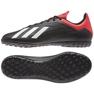Adidas X 18.4 Tf M BB9412 futballcipő fekete fekete