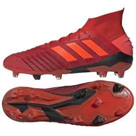 Adidas Predator 19.1 Fg M BC0552 futballcipő piros sokszínű