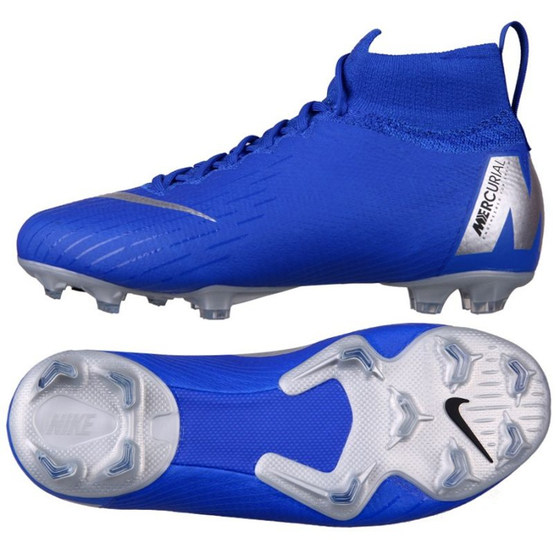 Nike Mercurial Superfly 6 Elite Fg Jr AH7340-400 futballcipő kék kék