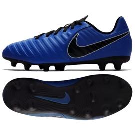 Labdarúgás cipő Nike Jnr Tiempo Legend 7 Club Mg Jr AO2300-400 kék sötétkék
