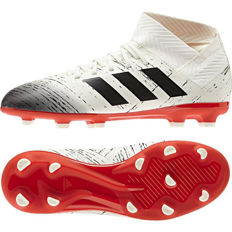 Adidas Nemeziz 18.3 FG Jr CM8508 futballcipő fehér
