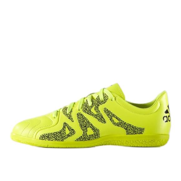 Beltéri cipő adidas X 15.3 In Leather Jr zöld