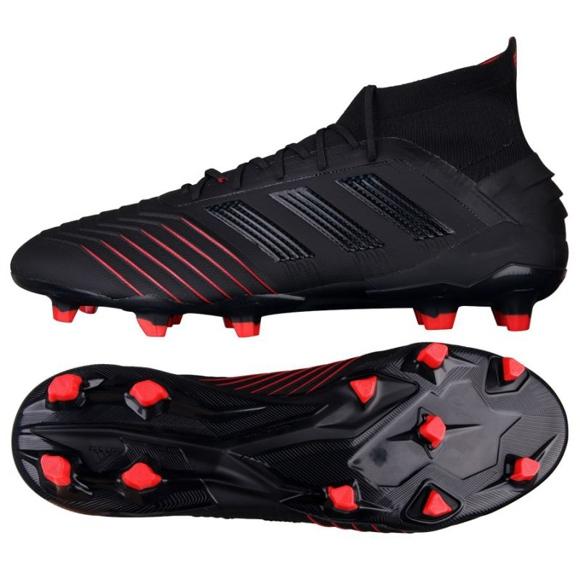 Adidas Predator 19.1 Fg M BC0551 futballcipő fekete fekete