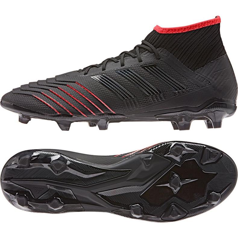 Adidas Predator 19.2 Fg M D97939 futballcipő fekete fekete