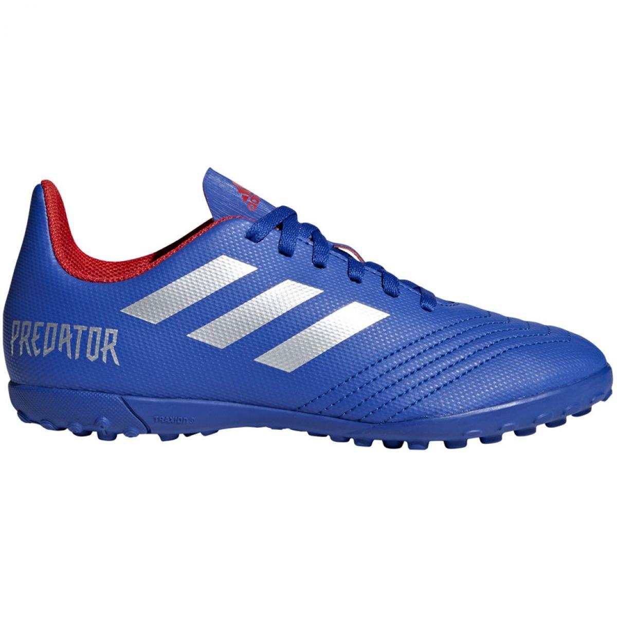 Adidas Predator 19.4 Tf Jr CM8556 futballcipő kék kék
