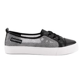 MCKEYLOR háló cipők fekete